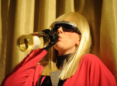 Actress Catherine Tate, as Lady Gaga: the singer toured the Old Jameson Distillery after her gig in The O2 last night.
