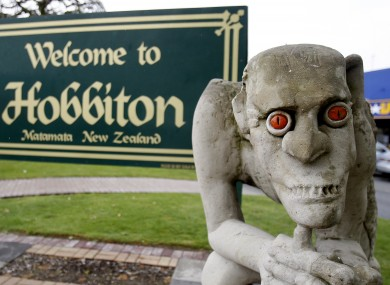 A statue of Gollum outside the town of Hobbiton in New Zealand.