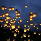 Taiwanese launch lanterns to the sky to welcome the Chinese Lantern Festival in the north eastern village of Pingshi, Taiwan Sunday, Feb. 28, 2010. 