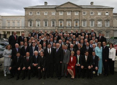 Bertie Ahern and his 110-strong Fianna Fáil parliamentary party in 2007.