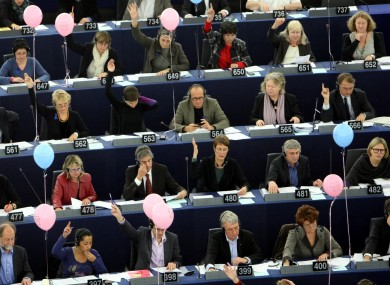 The European Parliament in Strasbourg: MEPs last night voted to encourage the European Commission to introduce a tax on financial transactions.