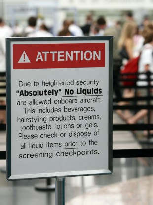 A sign at Denver International Airport in the US (File photo)
