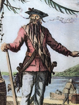 Blackbeard - real name Edward Teach - died in 1718, just months after the Queen Anne's Revenge was downed.