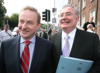 Enda Kenny and Pat Rabbitte during the 2007 general election.