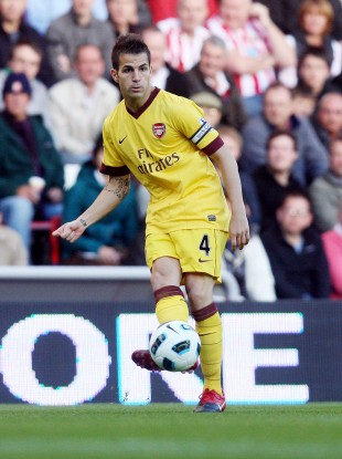 Fabregas in full flow.