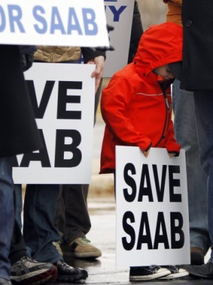 A Save Saab rally in Illinois last year.