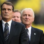 Mario Tardelli and Giovanni Trapattoni before kick-off.