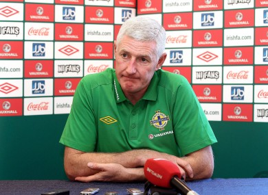 Worthington spent four and a half years as Northern Ireland manager.