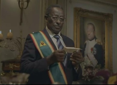 A still from the original Nando's ad, with an actor portraying Robert Mugabe