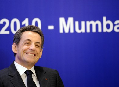 Something to smile about for Sarkozy