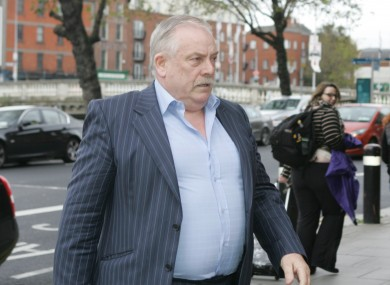 Thomas McFeely, who was declared bankrupt in London last Friday, was not present in court for today's hearing.
