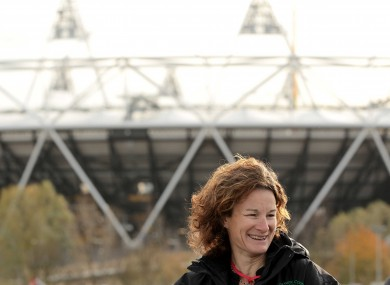 Sonia O'Sullivan, pictured outside London's Olympic Stadium.