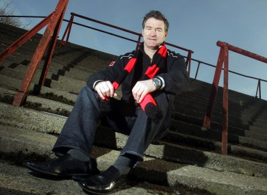 Aaron Callaghan on the terraces of Dalymount Park.