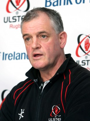 McLaughlin at Ulster's press conference today.