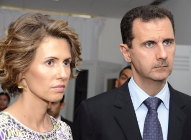Asma and Bashar Assad.