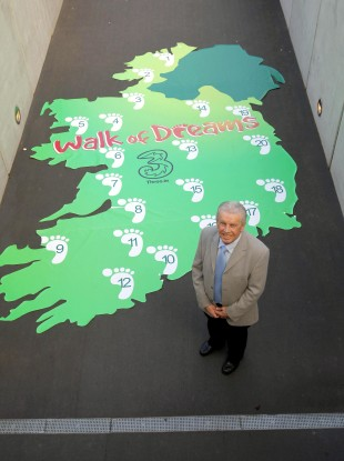 Giles at the launch of the 2012 Walk of Dreams yesterday.