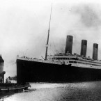 Titanic sails out of Southampton, England, at the start of its doomed voyage on 10 April, 1912. The ship would strike an iceberg and sink on the night/morning of 14-15 April, killing more than 1,500 of the 2,200 people aboard. (AP Photo)