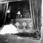 A luxury cabin, one of two apartments which cost £870 to hire for the maiden voyage of the Titanic.