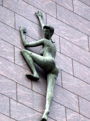 The statue on the side of Treasury Buildings, the rented home of the NTMA.