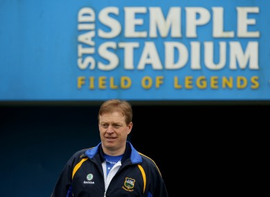 Declan Ryan will welcome Cork back to Semple Stadium