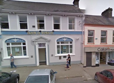 The Bank of Ireland on Main Street in Kingscourt, Co Cavan (File)