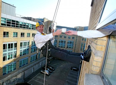 Michael Healy Rae - as well as cutting grass, running a petrol station, a farm and a post office, has been known to indulge in a spot of abseiling. And a spot of politics.