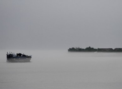 File photo of a ferry on the river Brahmaputra.
