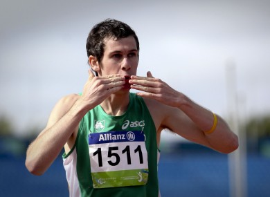 Michael McKillop at last year's IPC World Athletics Championships in New Zealand.