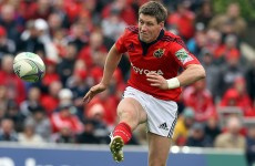 Ronan O'Gara back in Munster squad ahead of trip to Swansea