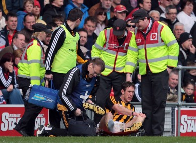 Michael Fennelly nurses his injury