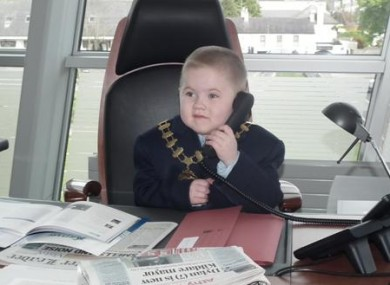 Dylan Steele hard at work as mayor of Kildare