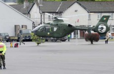 Air Ambulance in emergency landing at Borrisoleigh