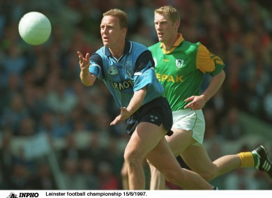 Keith Barr, seen here in action for the Dublin senior side, was the manager of the victorious St Brigidi's Division 1 Féile na nOg team.