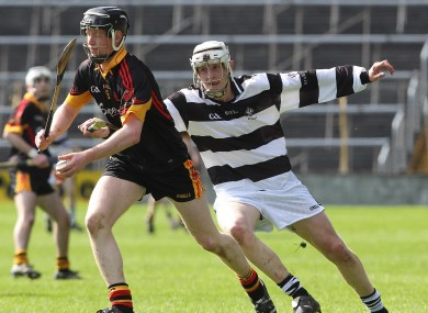 Jamie Shanahan, seen here featuring for Ardscoil Rís, returns to the Clare minor team tomorrow night.