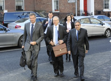 Troika officials in Dublin earlier this year