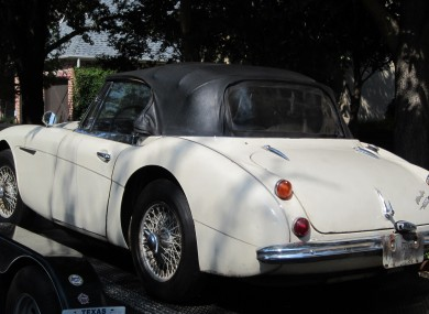 The stolen 1967 Austin-Healey is delivered to Robert Russell's house in Texas, 42 years after being stolen from him.