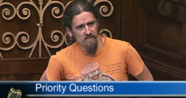 Pics: Luke Ming Flanagan wears his Oscar the Grouch t-shirt in the Dáil