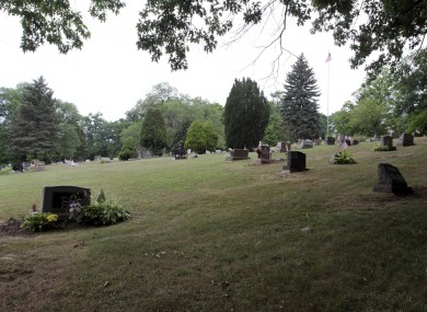 The cemetery in Lowellville, Ohio