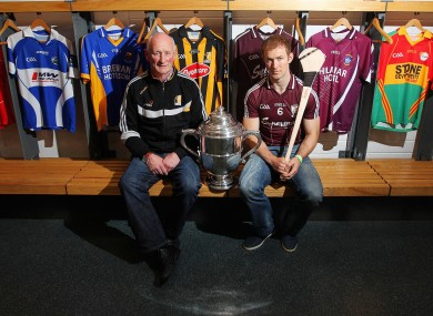 Tony Óg Regan and Brian Cody ahead of Sunday's Leinster decider.