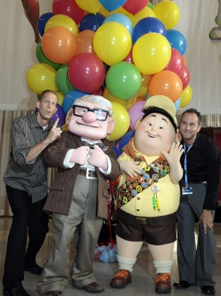 Pete Docter, far left, directed Pixar's Up which won an Oscar for Best Animated Feature Film in 2010.