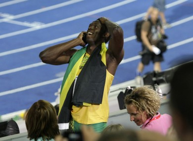 Usain Bolt: popular man. (File picture).