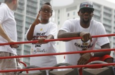 VIDEO: LeBron James Jr is a chip off the old block… kind of