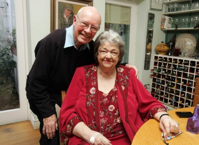 Maeve Binchy and her husband Gordon Snell in their Dalkey home in 2007