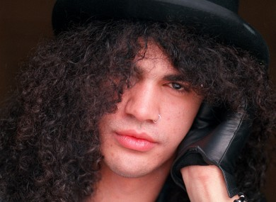 Slash at a tender age. But not as tender as the time he caught his mum in bed with David Bowie.