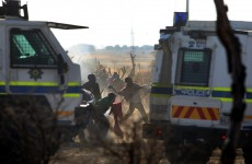 Police open fire on striking miners in South Africa