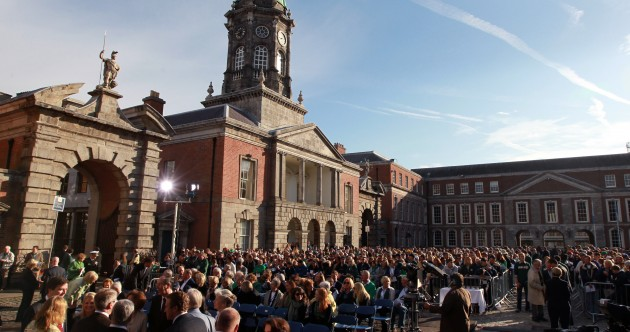Pictures: Mass held for Notre Dame fans at Dublin Castle