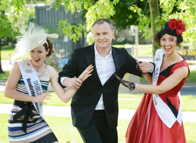 Daithí Ó Sé - seen here escaping Dublin Rose Arlene O'Neill and Mayo's Dervla Kenny - will host RTÉ's 'Today' show from Cork four days a week.
