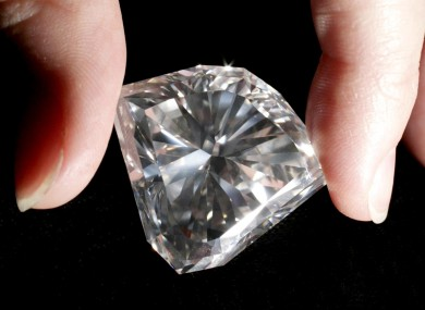 A diamond, thankfully not lodged in a thief's gullet.