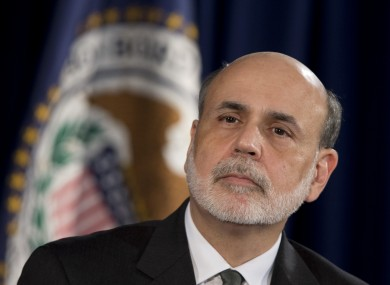Federal Reserve Chairman Ben Bernanke speaks during a news conference in Washington today.