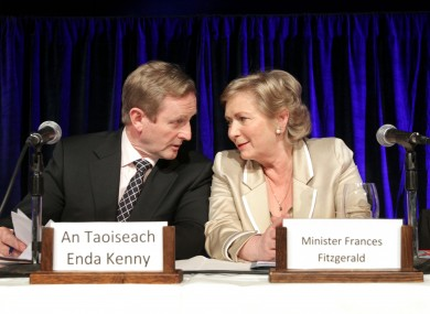 Taoiseach Enda Kenny and Minister for Children Frances Fitzgerald